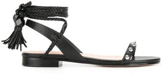 RED Valentino tie around sandals