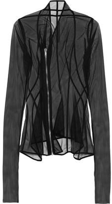 Rick Owens - Stretch-mesh Top - Black $895 thestylecure.com