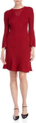 Taylor Bell Sleeve Ribbed Sweater Dress