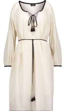 Etsville Tasseled Cotton-Gauze Dress