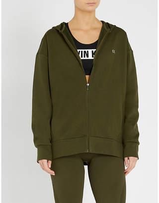 Calvin Klein Logo-detail jersey hoody