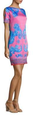 Versace Bateau Neck Shift Dress