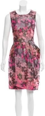 Lela Rose Jacquard Sheath Dress