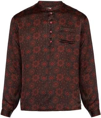 Saint Laurent Floral-print silk shirt