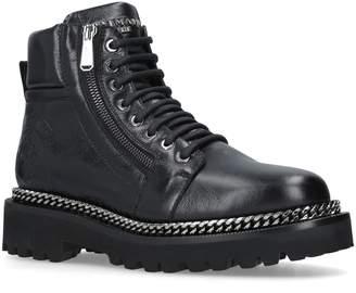 Balmain Leather Army Boots