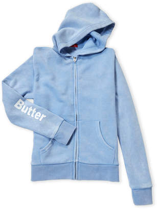 Butter Shoes Girls 7-16) Light Blue Color War Zip-Up Hoodie