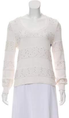 Burberry Tweed Knit Sequin Sweat