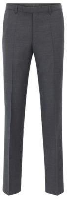 HUGO BOSS Wool Pant, Regular Fit Leenon 34R Grey