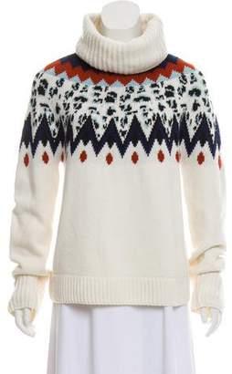Veronica Beard Intarsia Turtleneck Sweater