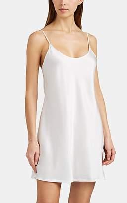 La Perla Women's Silk Satin Slip - White