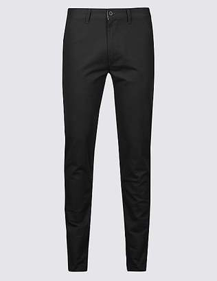M&S Collection Skinny Fit Pure Cotton Chinos