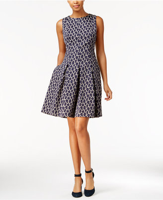 Tommy Hilfiger Leopard-Print Fit & Flare Dress $134 thestylecure.com