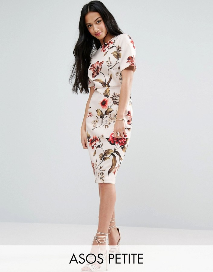 AsosASOS Petite ASOS PETITE Floral T-Shirt Midi Dress