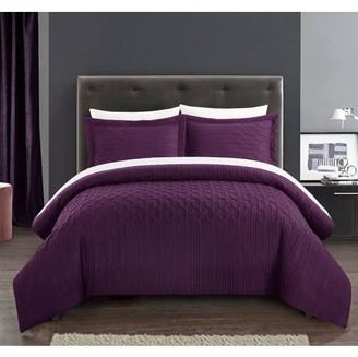 Chic Home Jas 3 Piece Comforter Set Embossed Vine Pattern Bedding