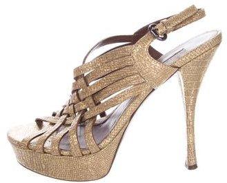 Vera Wang Lavender Label Embossed Platform Sandals