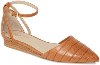 Seychelles Plateau Ankle Strap Pointed Toe Flat