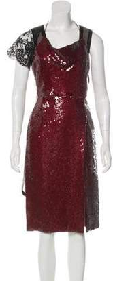 Marc Jacobs Sequin-Embellished Midi Dress Red Sequin-Embellished Midi Dress