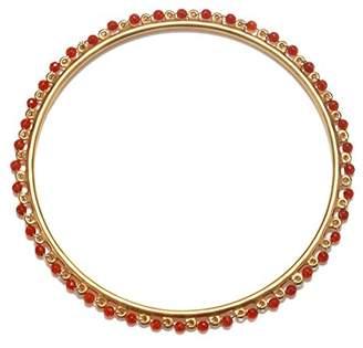 Satya Jewelry Women's Carnelian Gold Wrapped Bangle Bracelet