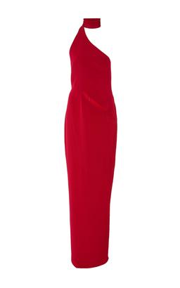 Brandon Maxwell Asymmetrical Gown with Collar