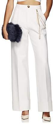 Area Women's Elsa Chain-Detail Wide-Leg Trousers