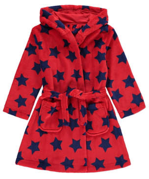 George Star Print Fleece Dressing Gown