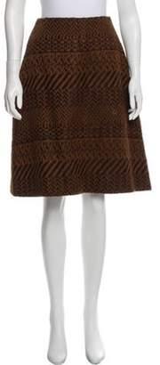 Chanel Wool A-Line Skirt Brown Wool A-Line Skirt