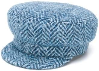 Ermanno Scervino herringbone print hat