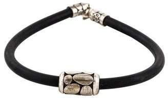 John Hardy Kali Barrel Bead Rubber Bracelet