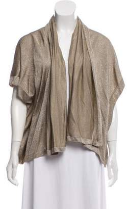St. John Metallic Open Front Cardigan Gold Metallic Open Front Cardigan