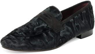 Bougeotte Black Swakara Flaneur Fur Penny Loafer