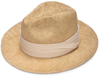 Justine Hats Straw Fedora With Cotton Band