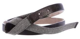 Brunello Cucinelli Monili Leather Belt