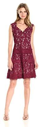 Adrianna Papell Women's Cynthia Lace Fit and Flare
