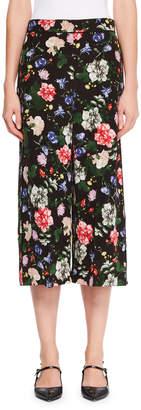 Erdem Beatrix Floral Silk Culottes