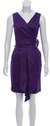Max Mara Tie-Accented Mini Dress Purple Tie-Accented Mini Dress