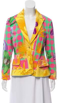 Versace Printed Casual Blazer