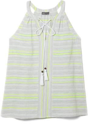 Vince Camuto Neon-stripe Halter Top