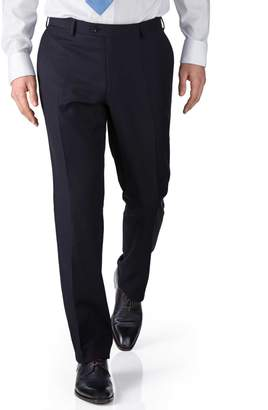 Charles Tyrwhitt Navy Slim Fit Twill Business Suit Wool Pants Size W30 L38
