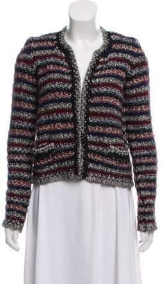 Isabel Marant Striped Wool-Mohair Cardigan