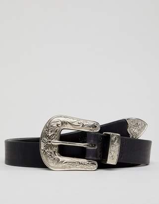 Dead Vintage Large Buckle Leather Belt