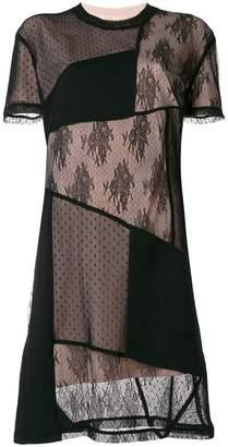 McQ patchwork lace detail dress
