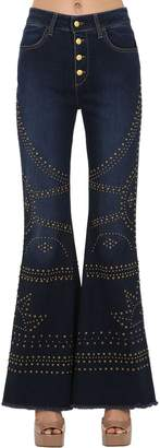 Shaft Jeans LARA STRETCH COTTON DENIM JEANS W/ STUDS