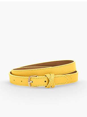 Talbots Pebbled Leather Belt