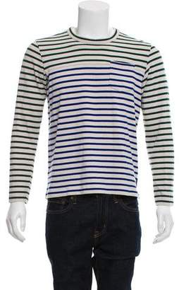 Sacai Striped Long Sleeve T-Shirt