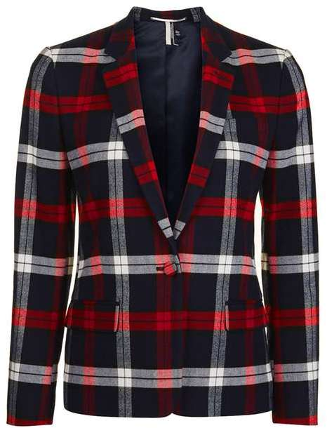 TopshopTopshop Check suit jacket