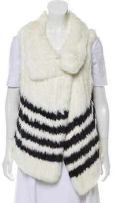 Calypso Striped Fur Vest