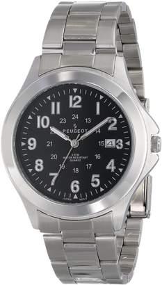 Peugeot Men's 1017M Black Dial Watch