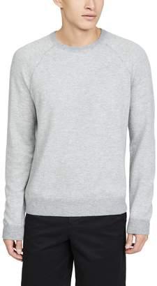 Vince Long Sleeve Birdseye Crew Neck Sweater