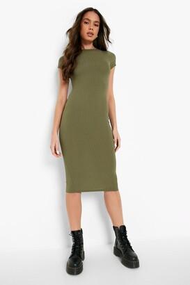 boohoo Maura Cap Sleeved Ribbed Bodycon Dress $16 thestylecure.com
