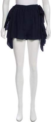 Fendi Silk High-Rise Shorts